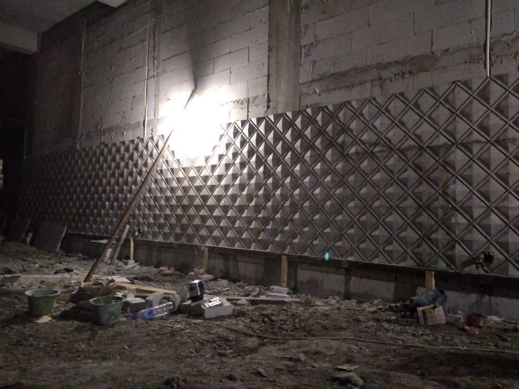 dinding 3d rhombus
