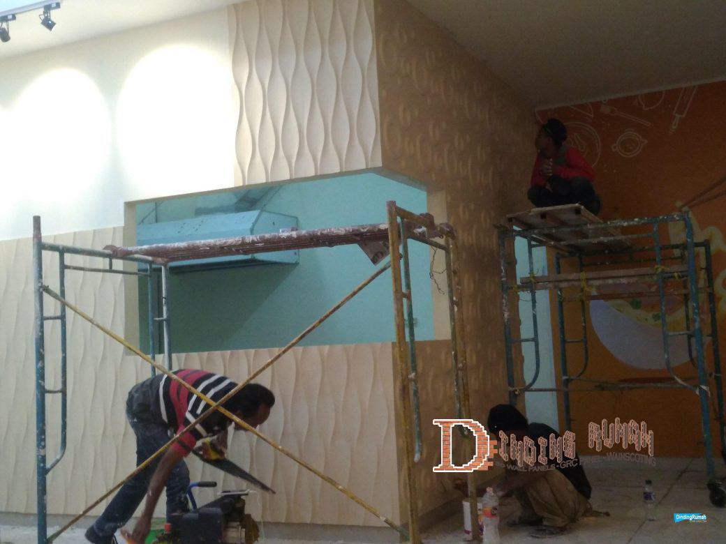 Cara pemasangan dinding 3d