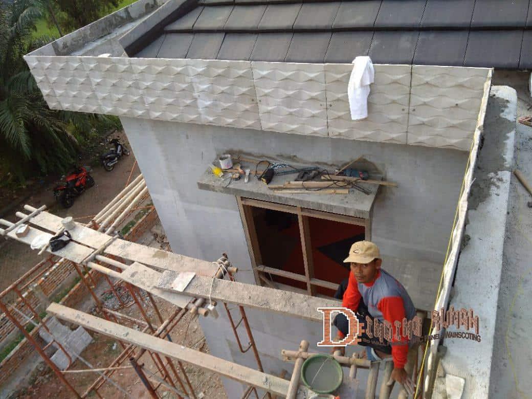 Panel Dinding Grc Berpola 3d Tahan Air Untuk Eksterior Dinding grc tahan air
